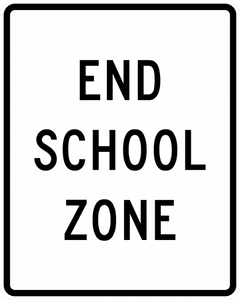 S5-2-End School Zone Sign - Municipal Supply & Sign Co.