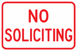 No Soliciting Sign - Municipal Supply & Sign Co.