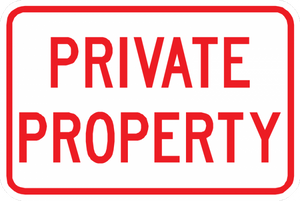 Private Property Sign - Municipal Supply & Sign Co.