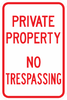 Private Property No Trespassing Sign - Municipal Supply & Sign Co.