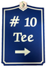 Golf Course Tee Sign