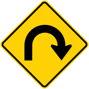 W1-11-Hairpin Curve Sign