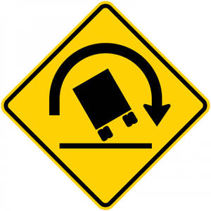 W1-13-Truck Rollover Sign