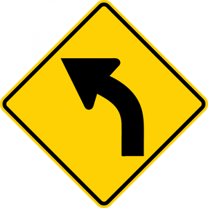 W1-2L-Horizontal Alignment Sign