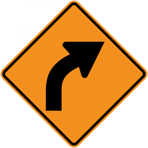 CW1-2-Turn and Curve Signs - Municipal Supply & Sign Co.