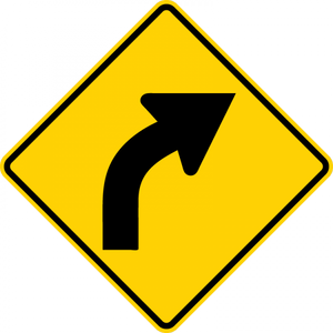 W1-2R-HorizontalAlignment Sign