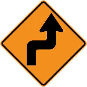CW1-3-Turn and Curve Signs - Municipal Supply & Sign Co.