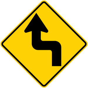 W1-3-Horizontal Alignment Sign