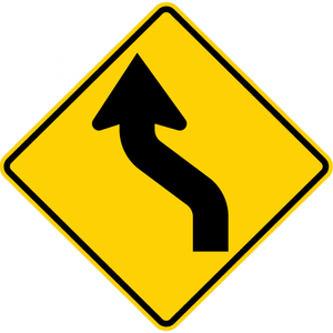 W1-4L-Horizontal Alignment Sign