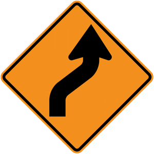 CW1-4-Turn and Curve Signs - Municipal Supply & Sign Co.