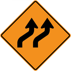 CW1-4b-Reverse Curve (2 or more lanes) - Municipal Supply & Sign Co.