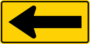 W1-6-One-Direction Large Arrow Sign