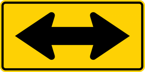 W1-7-Two-Direction Large Arrow Sign