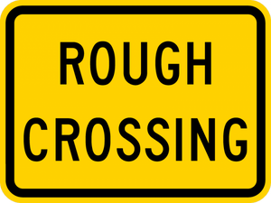 W10-15P-Rough Crossing (plaque) Sign