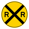 BW10-1-Grade Crossing Advance Warning Sign - Municipal Supply & Sign Co.
