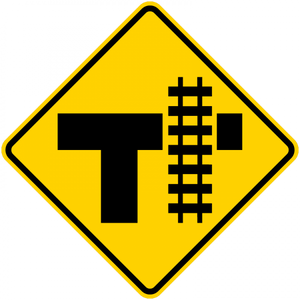 W10-4-Grade Crossing and Intersection Sign