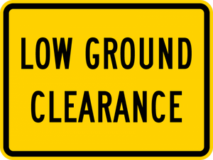 W10-5P-Low Ground Clearance Sign (plaque) - Municipal Supply & Sign Co.