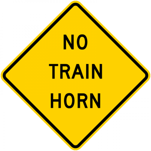 W10-9-No Train Horn Sign