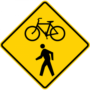 W11-15-Bicycle I Pedestrian Sign - Municipal Supply & Sign Co.