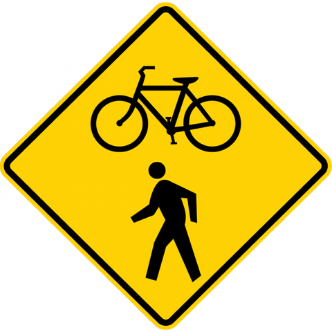 W11-15-Bicycle I Pedestrian Sign