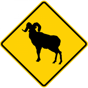 W11-18-Large Animals Sign