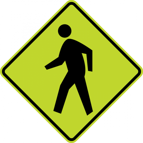 W11-2-Pedestrian Sign - Municipal Supply & Sign Co.