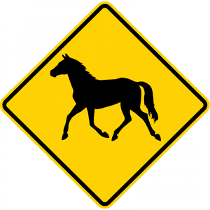 W11-22-Large Animals Sign