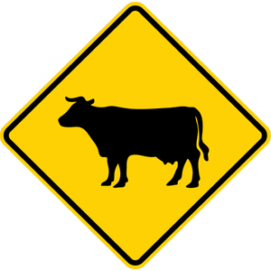 W11-4-Large Animals Sign