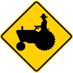 W11-5-Farm Vehicle Sign