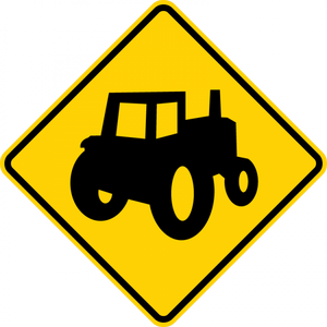 W11-5a-Farm Vehicle Sign