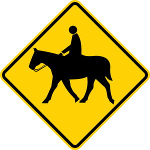 W11-7-Equestrian Sign - Municipal Supply & Sign Co.