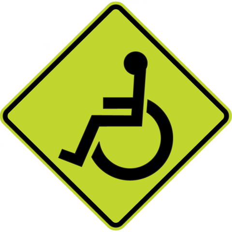 W11-9 - Handicapped Sign
