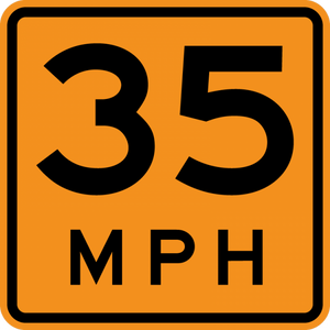 CW13-1P-Advisory Speed (plaque) - Municipal Supply & Sign Co.