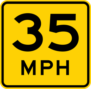W13-1P-Advisory Speed (plaque)