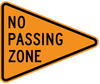 CW14-3-No Passing Zone (pennant) - Municipal Supply & Sign Co.