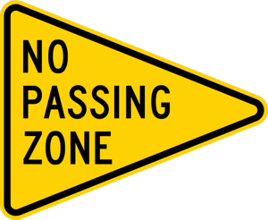 W14-3-No Passing Zone (pennant)