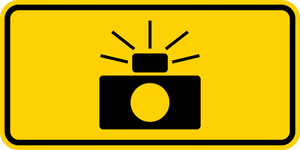 W16-10P-Photo Enforced(symbol plaque)