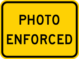 W16-10aP-Photo Enforced (plaque)
