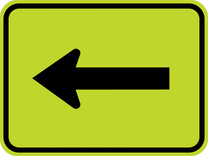 SW16-5P-Turn Arrow Sign