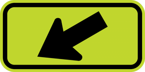 SW16-7PL-Diagonal Arrow Sign - Municipal Supply & Sign Co.