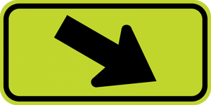 SW16-7PR-Diagonal Arrow Sign