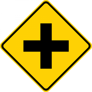 W2-1-Intersection Warning Sign - Municipal Supply & Sign Co.