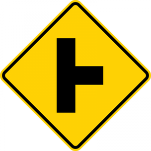 W2-2-Intersection Warning Sign
