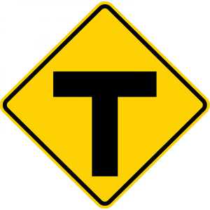 W2-4-Intersection Warning Sign