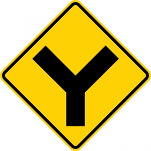 W2-5-Intersection Warning Sign