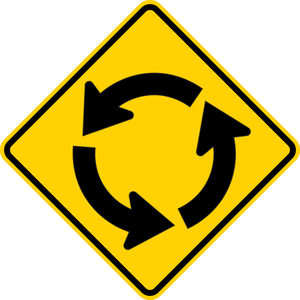 W2-6-Intersection Warning Sign