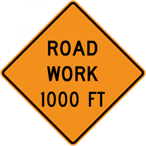 CW20-1-Road Work (with distance) - Municipal Supply & Sign Co.