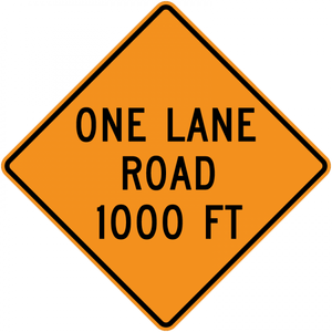 CW20-4-One Lane Road (with distance)