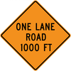 CW20-4-One Lane Road (with distance) - Municipal Supply & Sign Co.