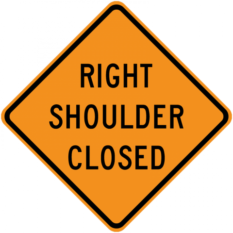 CW21-5a-Shoulder Closed - Municipal Supply & Sign Co.